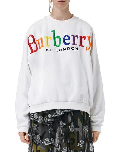 Archive Rainbow Logo Crewneck Sweatshirt