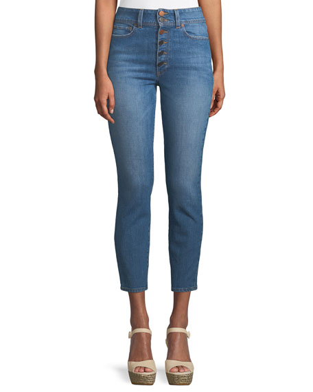 AO.LA by Alice+Olivia Good High-Rise Ankle Skinny Jeans