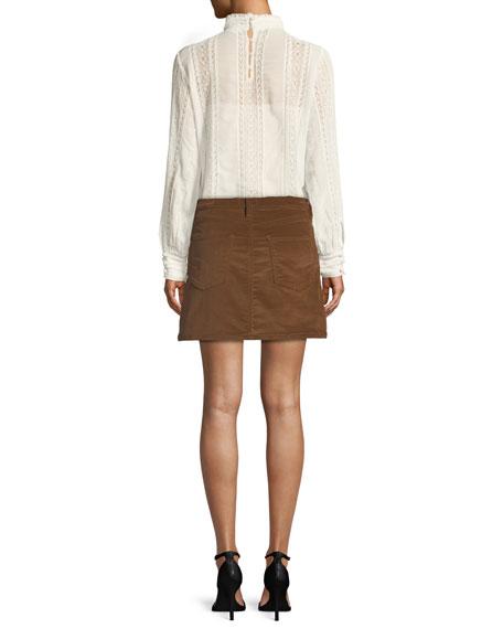 Le Mini Stretch Corduroy Skirt