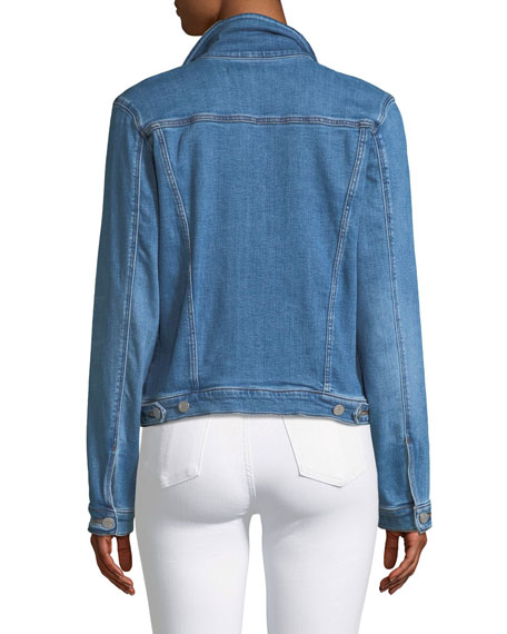 Slim Button-Front Denim Jacket