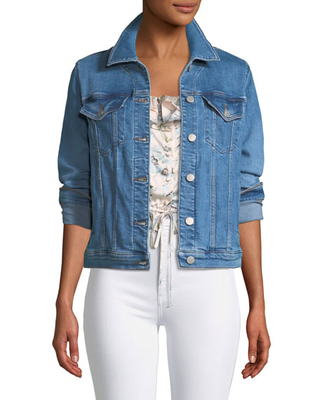J Brand Slim Button-Front Denim Jacket