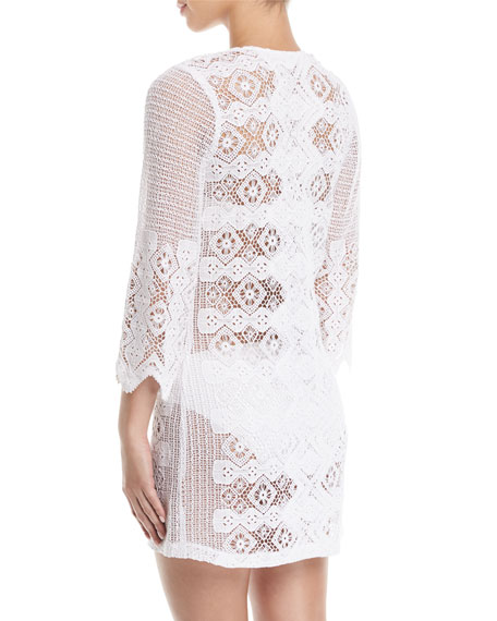 Elliot Geometric Lace Tunic Coverup