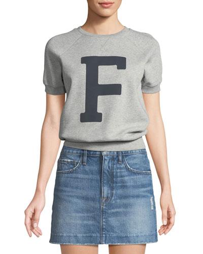 Varsity Graphic Short-Sleeve Sweatshirt