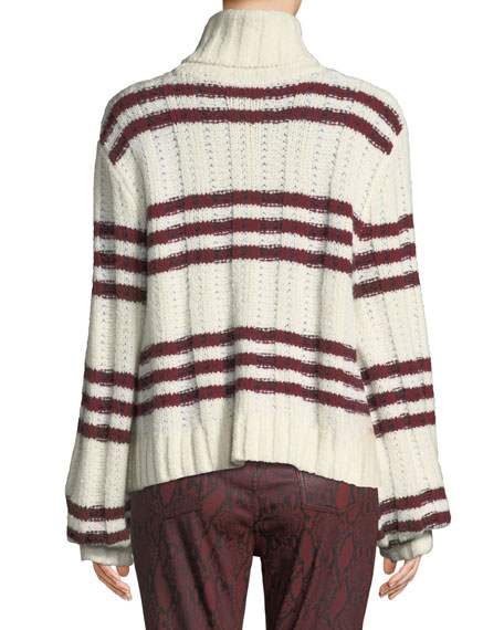Zaira Striped Turtleneck Sweater
