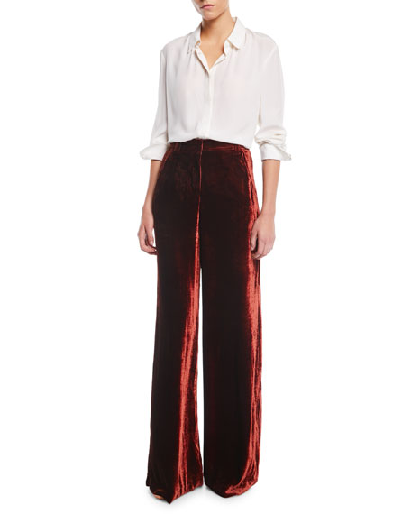 Ashbury Wide-Leg Velvet Pants