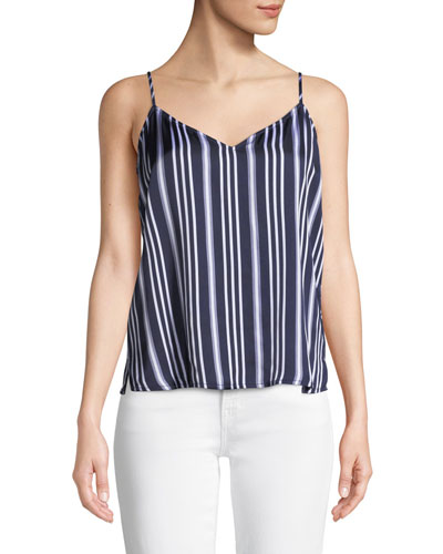 Lisette Striped V-Neck Tank Top