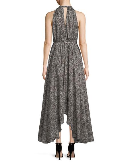 Irina Sleeveless Leopard-Print Asymmetric Dress