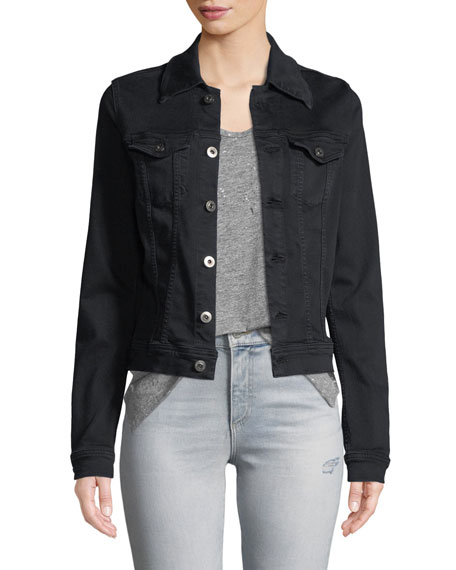 AG Adriano Goldschmied Robyn Button-Front Fitted Cropped Denim