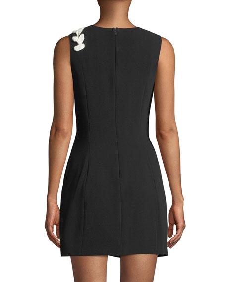 Izella Sleeveless Mini Dress with Lace-Up Details