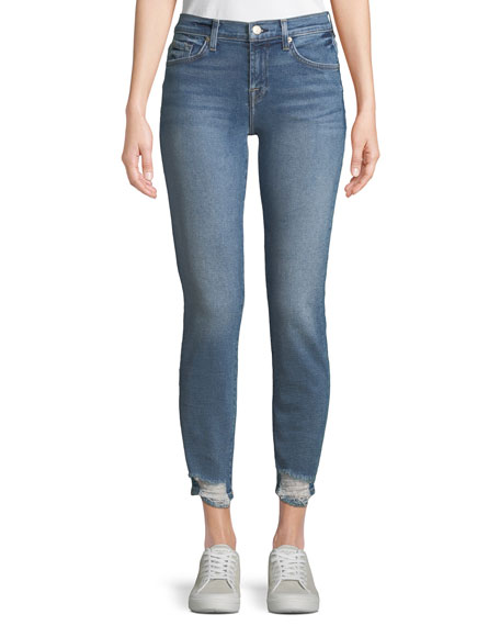 7 for all mankind Roxanne Straight-Leg Jeans w/