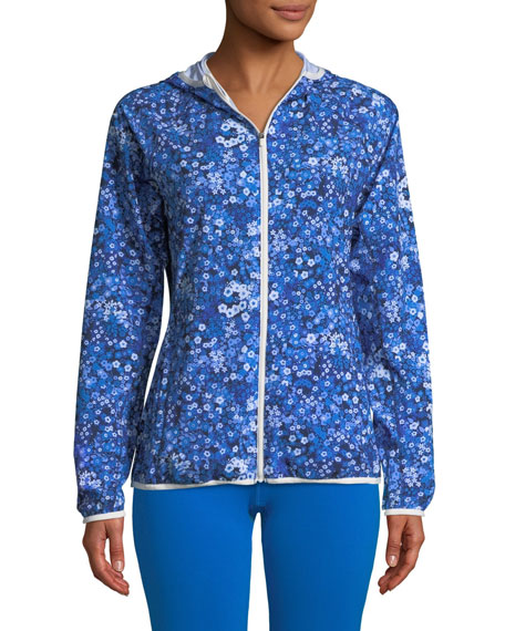 Floral-Print Packable Performance Jacket