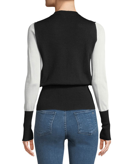 Marissa Crewneck Long-Sleeve Pullover