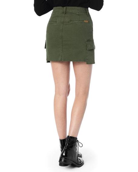 The Army Raw-Edge Cargo Skirt