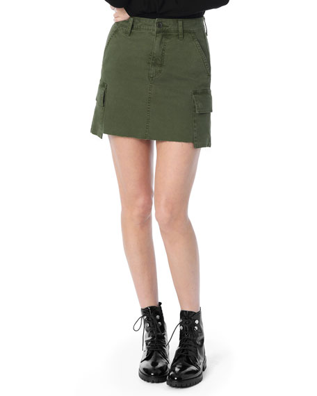 Joe's Jeans The Army Raw-Edge Cargo Skirt