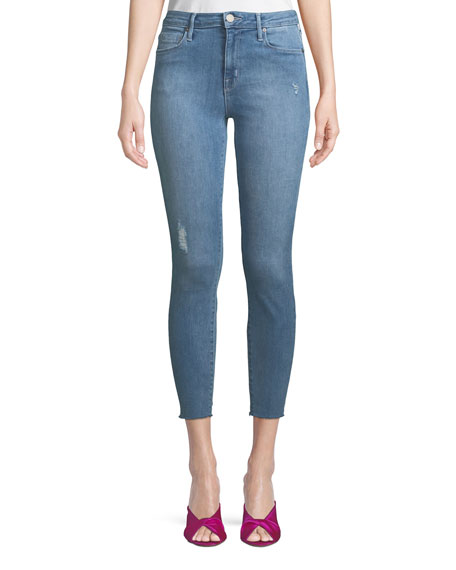 Parker Smith Bombshell Cropped Skinny Jeans with Light