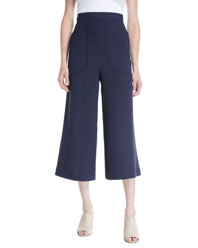 Cropped Wide-Leg Pants