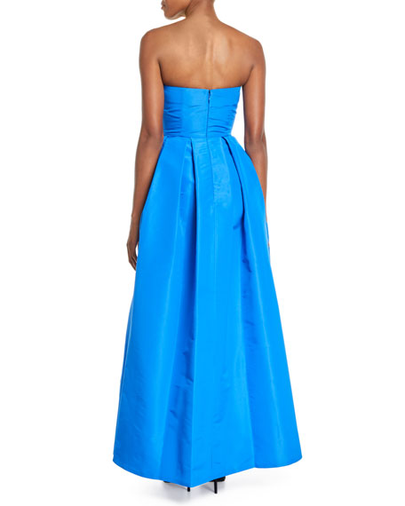 Leora Strapless Silk Ball Gown w/ Bow