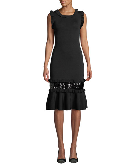 Sachin & Babi Noir Prissy Body-Con Sequin Dress