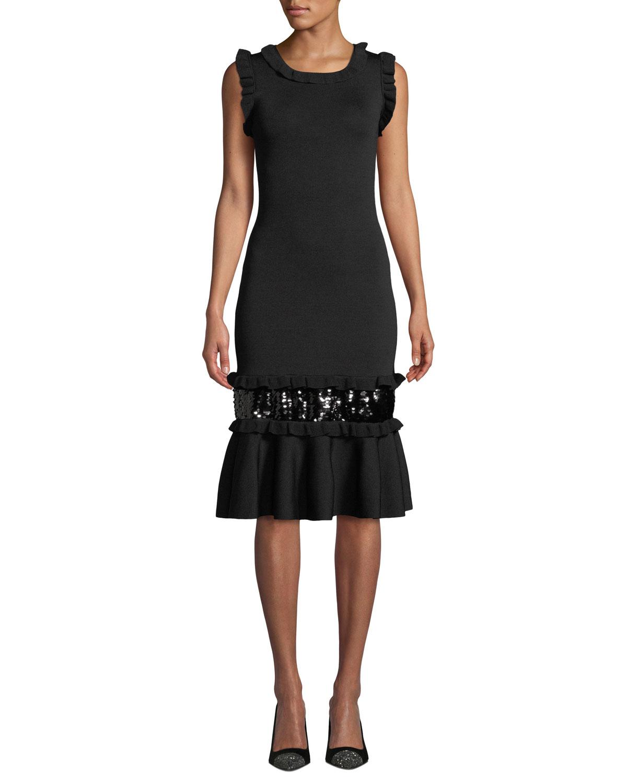 Sachin Babi Noir Prissy Body Con Sequin Dress Neiman Marcus