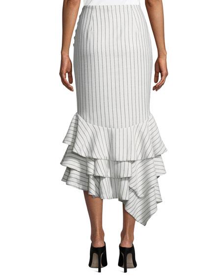 Ayesha Striped Flounce Skirt