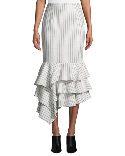 Ayesha Striped Flounce Skirt