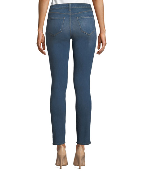 Tilly Mid-Rise Slim Straight-Leg Jeans
