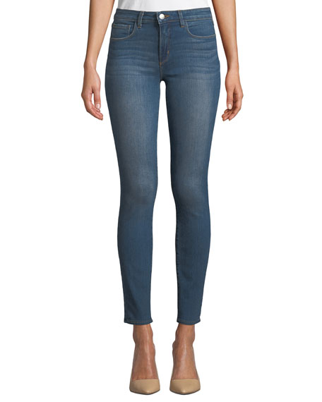 Tilly Mid-Rise Slim Straight-Leg Jeans