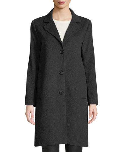 Cashmere Single-Breasted Boyfriend Coat