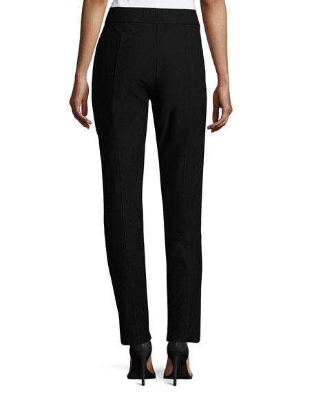 Washable Crepe Slim-Leg Pants