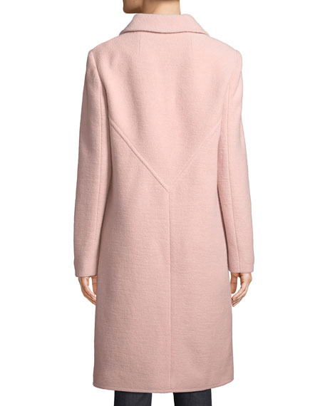Colette Single-Breasted Long Wool Coat