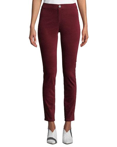 Stretch Velvet Slim Pants, Plus Size