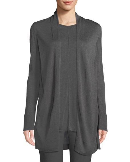 NIC+ZOE Reset Open-Front Long-Sleeve Cardigan w/ Contrast Back,