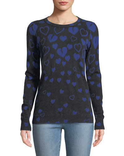 Inked Reversible Broken-Hearts Intarsia Sweater