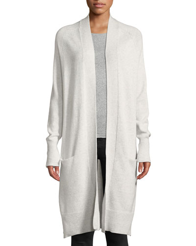 Open-Front Maxi Cashmere Cardigan