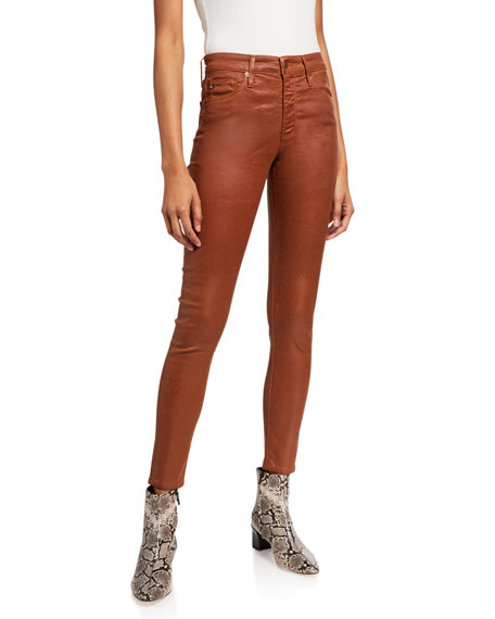 AG Adriano Goldschmied Farrah Sateen High-Rise Ankle Skinny