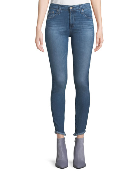 AG Adriano Goldschmied Farrah High-Rise Skinny Jeans w/