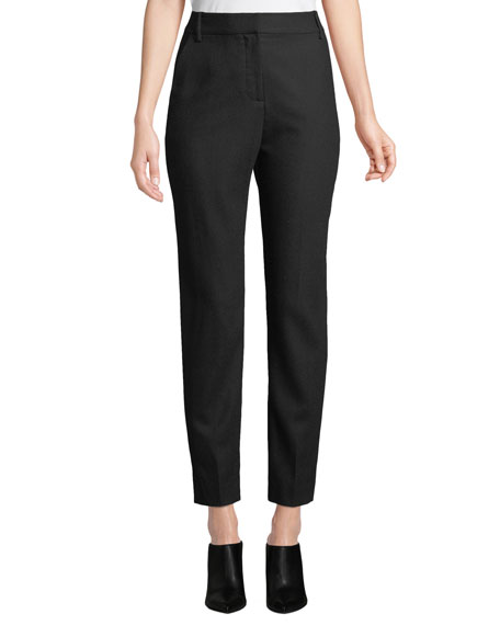 Warsaw Wool Slim-Leg Pants in Black