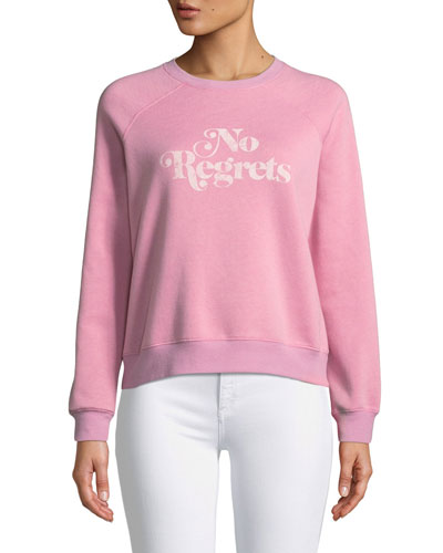 No Regrets Graphic Crewneck Sweatshirt