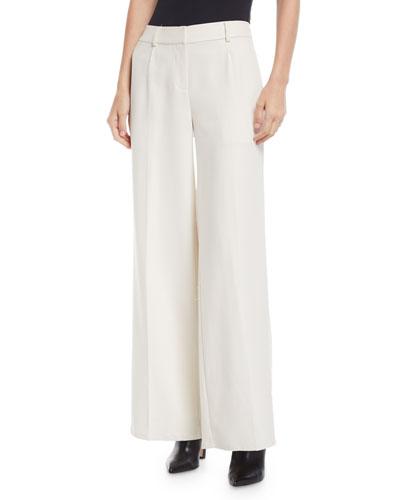 Tencel® Wide-Leg Trousers, Petite