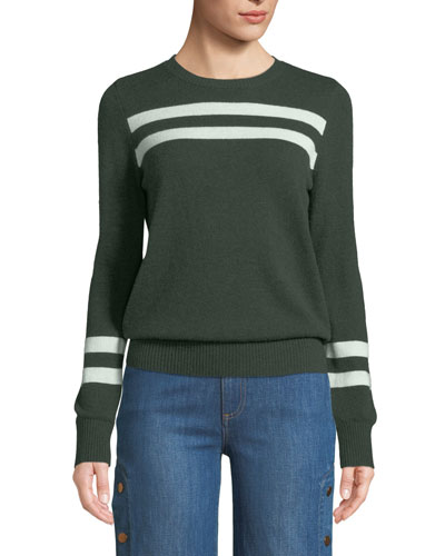 Marlowe Striped Wool-Cashmere Sweater