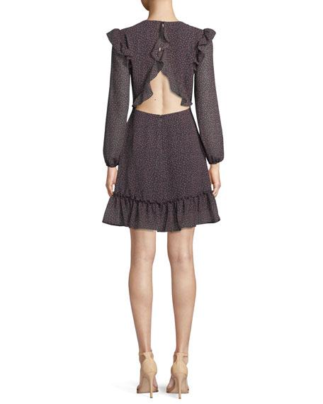 Cosette Floral Ruffle Open-Back Dress