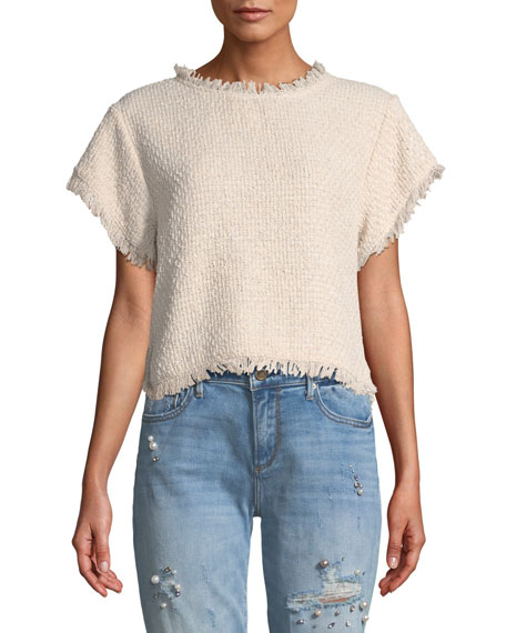 Justeen Cropped Tweed Top