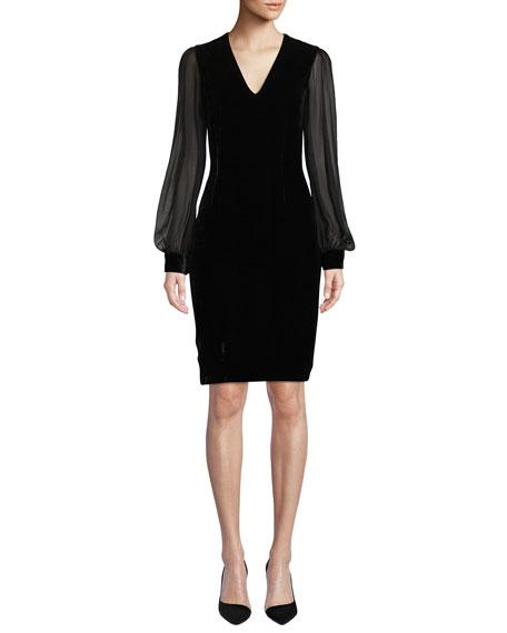 Sachin & Babi Noir Brinker Velvet Dress w/