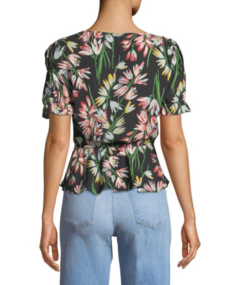 Archer Floral V-Neck Top