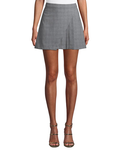 Nadine Pleated Check Mini Skirt