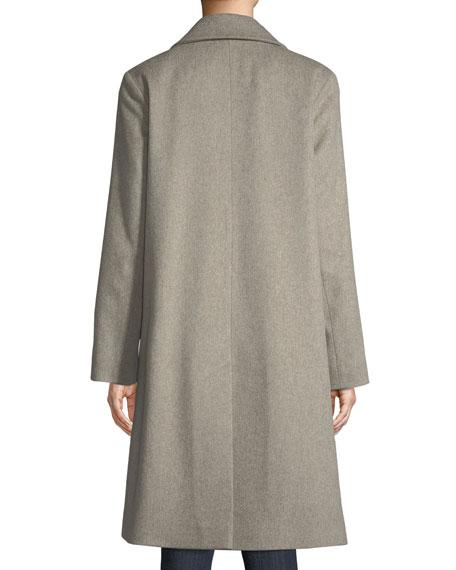 f863366930c6e Fleurette Long Double-Breasted Wool Coat