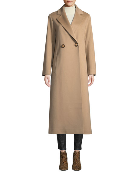 Fleurette Long Two-Button Wool Coat