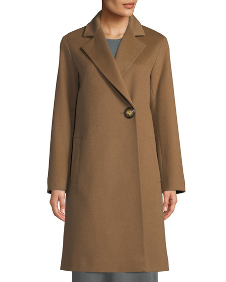 Fleurette One-Button Wool Midi Coat