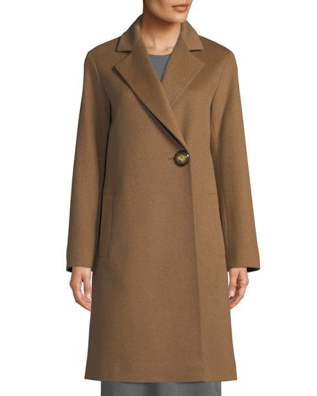 Fleurette One-Button Wool Midi Coat
