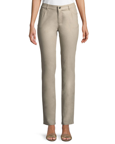 Lafayette 148 New York Thompson Frosted Denim Slim-Leg
